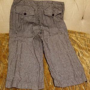 George and Martha Pants - Adorable pinstripe palazzo crop pants.